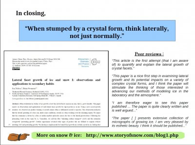 """Some """"Inexplicable"""" Snow-crystal Features: Applications of Lateral Growth"""