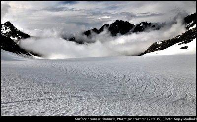 Drainage Lines on Snow
